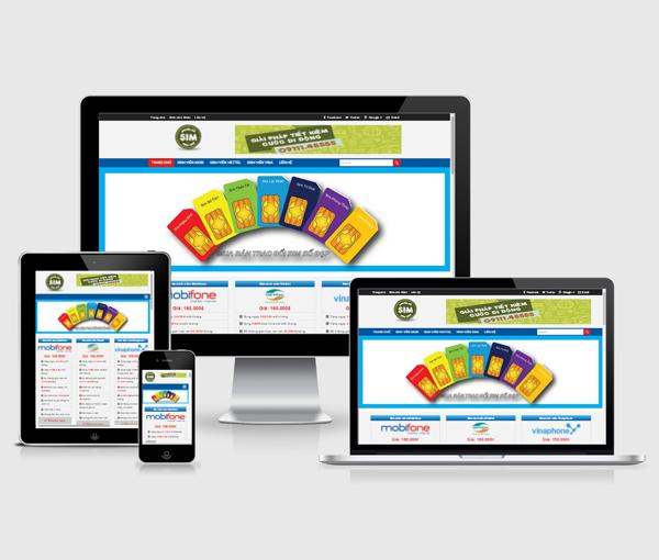 Thiết kế website sim số đẹp, bán sim online