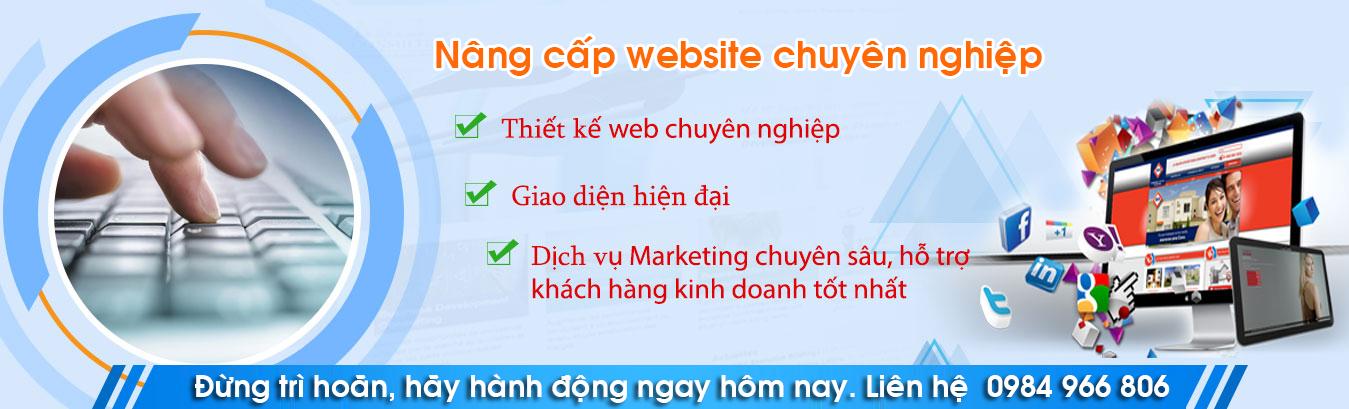 Nâng cấp website chuyên nghiệp