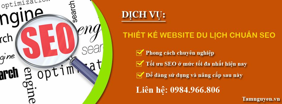 Thiết kế website du lịch chuẩn SEO