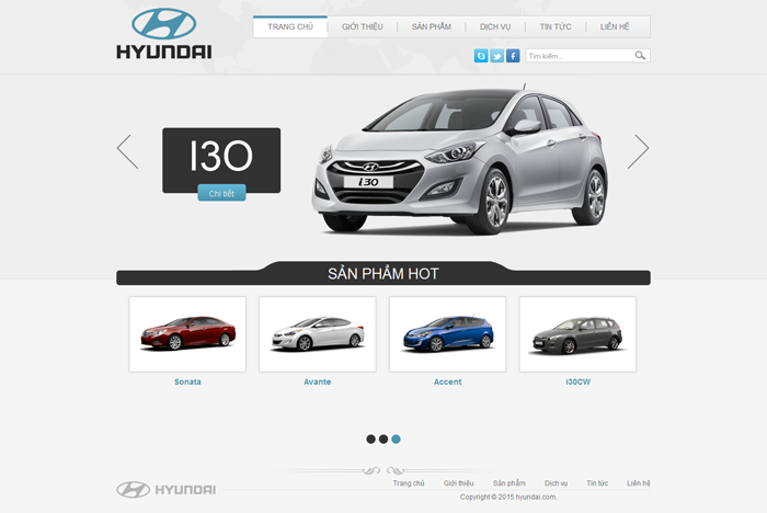 Mẫu website Ô tô 9