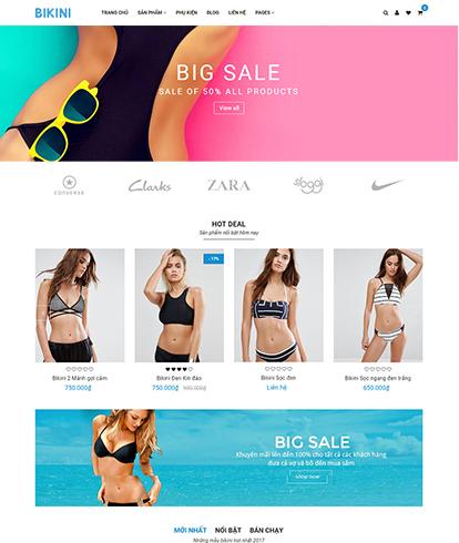 Thiết kế Website Thời trang Bikini