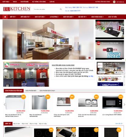 Thiết kế website bán hàng sản phẩm bếp điện từ