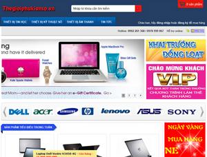 Thiết kế website bán hàng trực tuyến - BH8