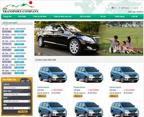 Thiết kế website cho thuê xe - TX1