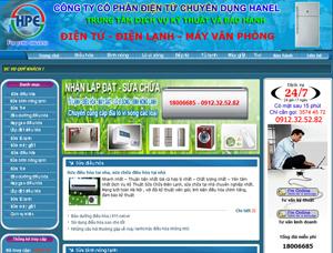 Thiết kế website dịch vụ - DV1