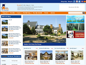 Thiết kế website sàn giao dịch bất động sản - SBDS3