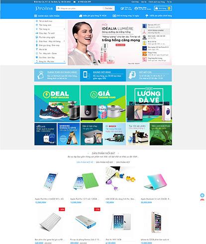 Thiết kế website siêu thị Pro Ins