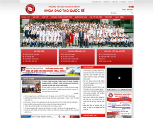 Mẫu website giáo dục số 2