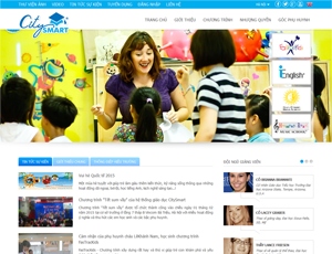 Mẫu website giáo dục số 3