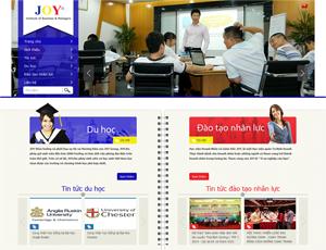 Mẫu website giáo dục số 5