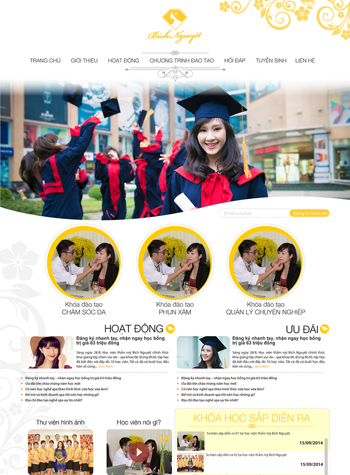 Mẫu website giáo dục số 6