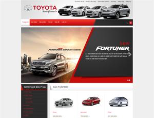 Mẫu website Ô tô 4