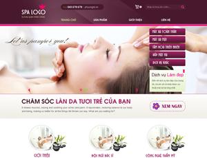 Mẫu website sắc đẹp số 1