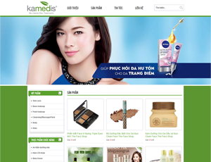 Mẫu website sắc đẹp số 3