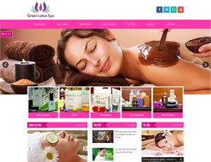 Mẫu website sắc đẹp số 4