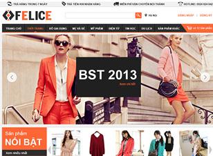 Mẫu website thời trang số 1