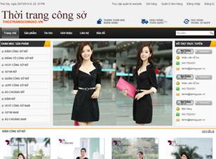 Mẫu website thời trang số 2