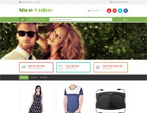 Mẫu website thời trang số 3