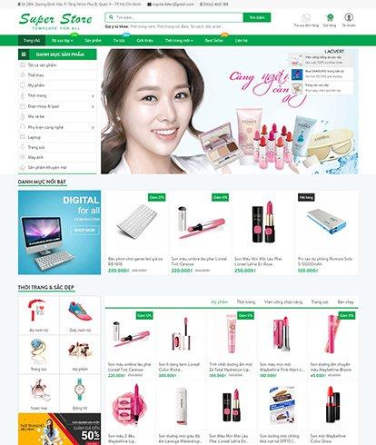 Thiết kế website bán hàng Super Store