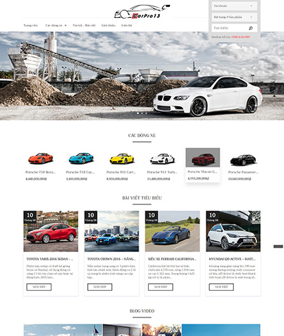 Thiết kế mẫu website ô tô Carpro