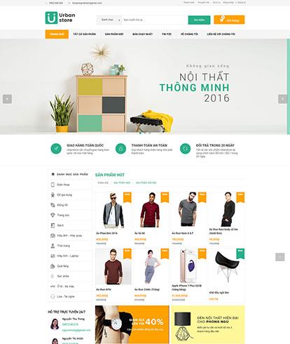 Thiết kế webiste siêu thị Urban Store