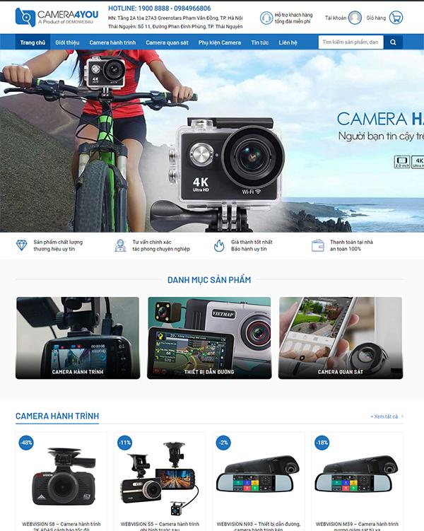 Thiết kế website bán Camera Online - Mẫu số 1