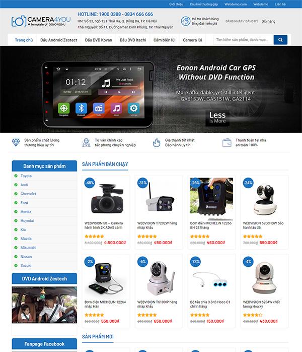 Thiết kế website bán Camera Online - Mẫu số 2