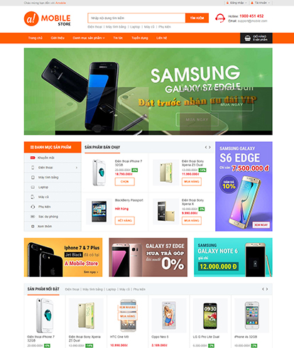 Thiết kế Website bán Điện thoại Amobile