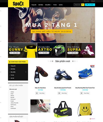 Thiết kế website kinh doanh đồ thể thao Sport