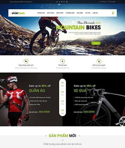 Thiết kế website kinh doanh đồ thể thao Sportbike