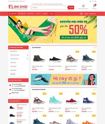 Thiết kế Website bán Giày Big Shoe