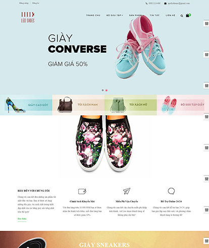Thiết kế Website bán Giày Leo Shoes