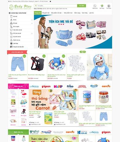Thiết kế Website Bán hàng Baby Plus