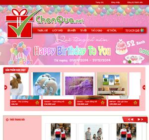Thiết kế website bán hàng chọn quà tặng