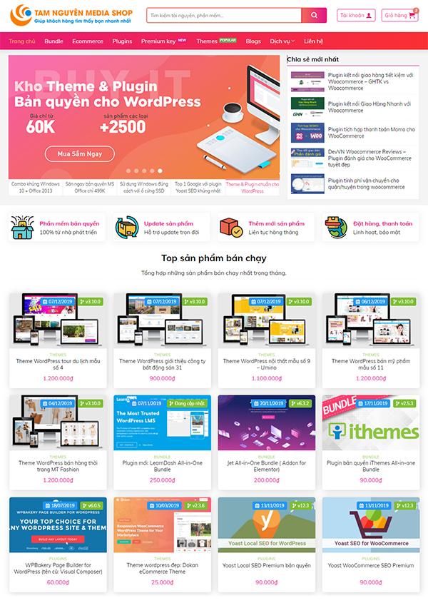 Thiết kế website bán hàng đa ngành nghề chuyên nghiệp