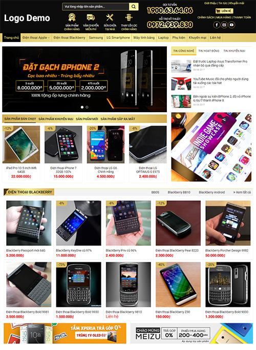 Thiết kế website bán hàng điện máy
