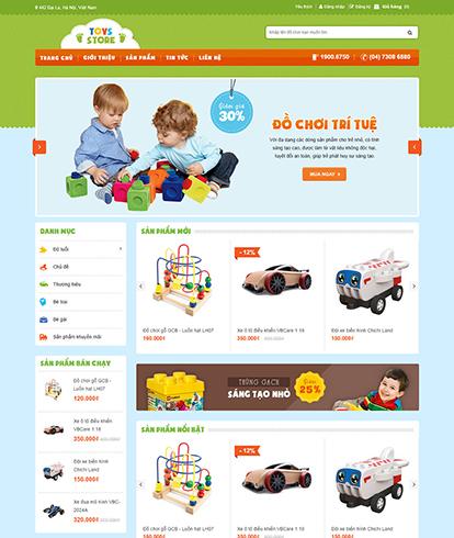 Thiết kế Website Bán hàng đồ chơi trẻ em Toys store