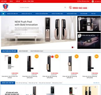 Thiết kế website bán hàng khóa cửa điện tử