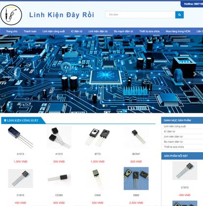 Thiết kế website bán hàng linh kiện điện tử đây rồi