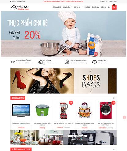 Thiết kế website bán hàng Lyra Store