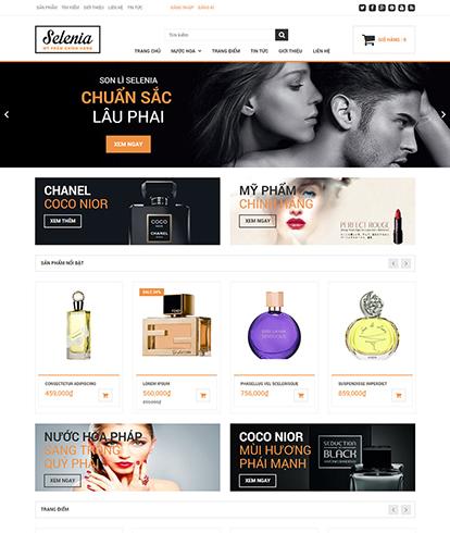Thiết kế website bán hàng Mỹ phẩm Selenia