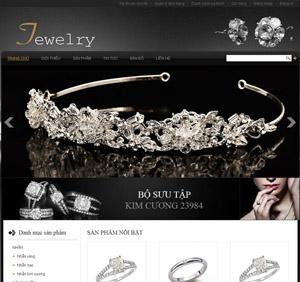 Thiết kế website bán hàng nhẫn, dây truyền, kim cương - BH32