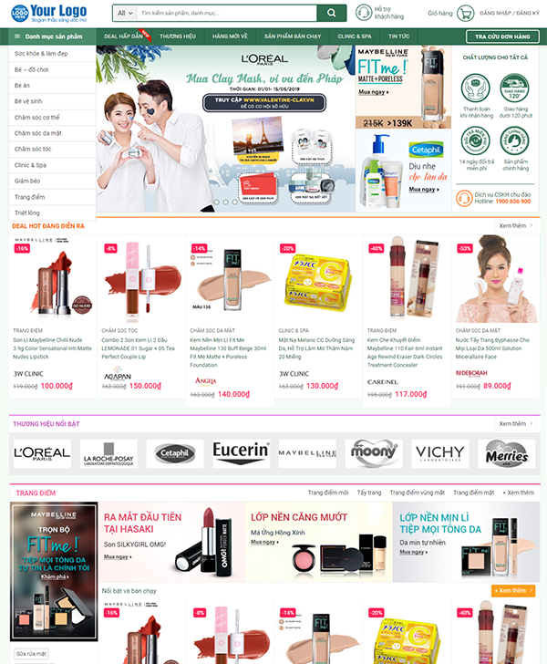 Thiết kế website bán hàng Online đa ngành nghề