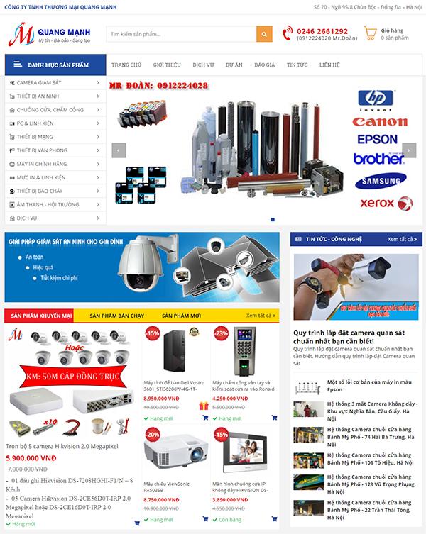Thiết kế website bán hàng sản phẩm công nghệ