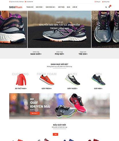 Thiết Kế Website bán đồ thể thao Siêu phẩm