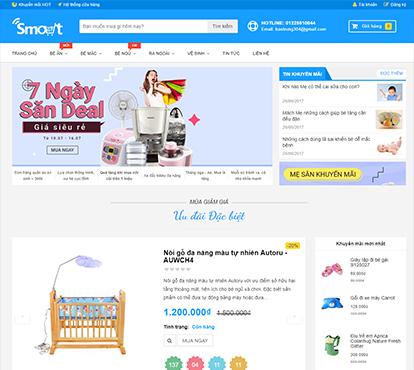 Thiết kế website bán hàng đồ chơi thông minh Smartkids