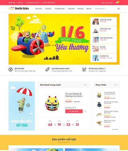 Thiết kế Website bán hàng Smile Kids