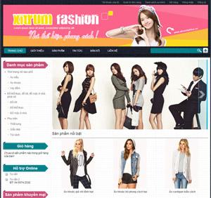 Thiết kế website bán hàng thời trang - BH35