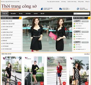Thiết kế website bán hàng thời trang công sở