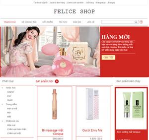 Thiết kế website bán hàng thời trang mỹ phẩm - BH33